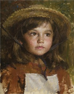 "Morgan Weistling Hand Signed and Numbered Limited Edition Gallery Wrap Canvas Giclee:""Straw Hay"""