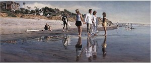 "Steve Hanks Hand Signed and Numbered Limited Edition Giclee on Canvas: ""Raising Daughters """