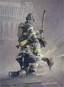 "William Phillips Open Edition Canvas:""A Prayer for My Brother"" - Benefits National Fallen Firefighters Foundation Benefit"
