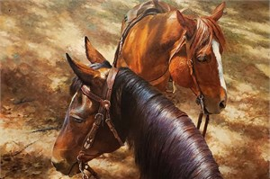 "Bonnie Marris Hand Signed Limited Edition Canvas Giclee:""Heart and Soul"""