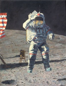 "Alan Bean Handsigned and Numbered Limited Edition Giclée Print on Paper:""John Young Leaps into History"""