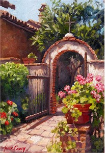 "June Carey Handsigned and Numbered Limited Edition Giclée Canvas:""Garden of the Bells"""