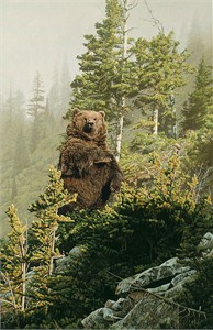 "Rod Frederick Handsigned and Numbered Limited Edition Giclée Canvas:""In Tall Timber"""