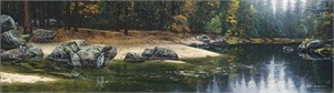 """Stephen Lyman Hand Numbered Estate Signed Limited Edition Masterwork Giclée Canvas:""""Riparian Riches"""""""