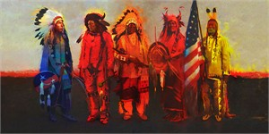 "R. Tom Gilleon Handsigned and Numbered Limited Edition Giclée Canvas:""Men of Honor"""