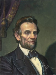 "Dean Morrissey Handsigned and Numbered Limited Edition Giclée Canvas:""Study for Abraham Lincoln: The Great Emancipator"""