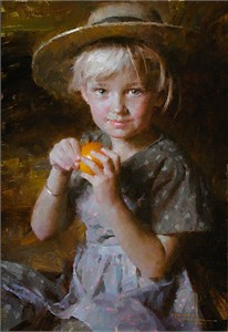 """Morgan Weistling Handsigned and Numbered Limited Edition Giclée Canvas:""""Tangerine"""""""