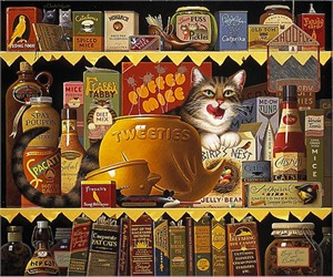 """Charles Wysocki Limited Edition Anniversary Canvas Giclee:""""Ethel the Gourmet"""""""