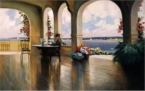 "Paul Landry Canvas Limited Edition Canvas:""Verandah """