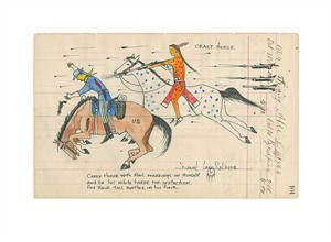 "Daniel Long Soldier Hand Signed and Numbered Fine Art Giclée:""Crazy Horse with Hail Markings"""