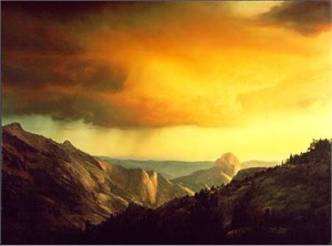 "Stephen Lyman Handsigned and Numbered Limited Edition :""Storm Over Tenaya Canyon """