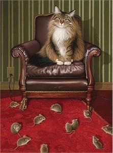 "Braldt Bralds Open Edition Fine Art Canvas Giclée:""Chair Purrson"""