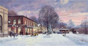 "Paul Landry Open Edition Fine Art Canvas Giclée:""It's a Wonderful Christmas"""