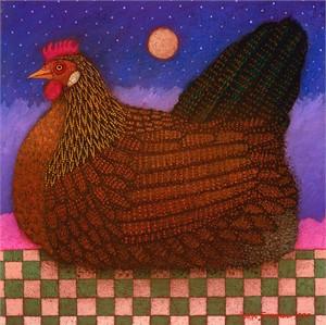 """John Simpkins Open Edition Fine Art Canvas Giclée:""""Americana Hen"""""""