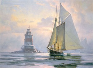 "Don Demers Open Edition Fine Art Canvas Giclée:""Ghosting Off Latimer's"""