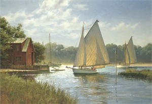 "Don Demers Open Edition Fine Art Canvas Giclée:""On a Midday Tide"""