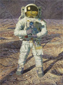 "Alan Bean Handsigned and Numbered Limited Edition Giclee Print:""First Men: Neil A. Armstrong"""