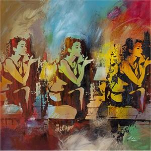 "Pietro Adamo Limited Edition Gallery Wrapped  Fine Art Canvas Giclée:""Rossetto: La Luce Verde"""