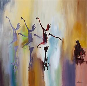"""Pietro Adamo Limited Edition Gallery Wrapped  Fine Art Canvas Giclée:""""Sola, La Prima Ballerina """""""