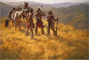 "Howard Terpning 90th Birthday Series Limited Edition Canvas Giclee:""Dust of Many Pony Soldiers -Available August 5, 2018"""