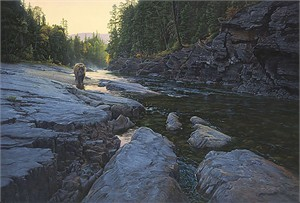 "Daniel Smith Masterwork Handsigned and Numbered Giclee on Canvas: ""Above the Falls"""