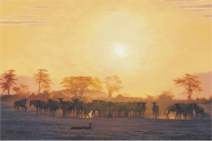 """Simon Combes Hand Numbered Limited Edition Canvas:""""Keeping Distance"""""""
