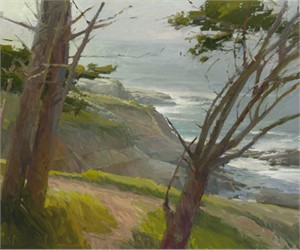 "Ken Auster Handsigned and Numbered Limited Edition Masterworks Giclee on Canvas:""La Jolla Light"""
