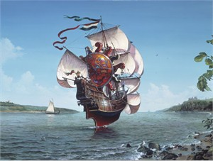 "Dean Morrissey Limited Edition Print:""The Lightship"""