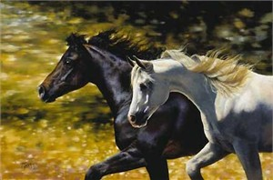 """Bonnie Marris Handsigned & Numbered Limited Edition  Canvas Giclee:""""Night and Day"""""""