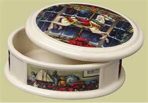 "Paul Landry Open Edition Porcelain:""Christmas Carousel Pony Box """
