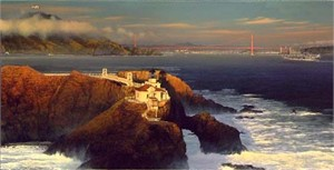 "William Phillips Limited Edition Print: ""Point Bonita - Last Light"""