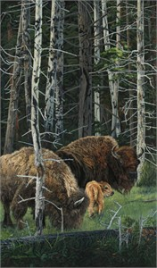 """Judy Larson Handsigned and Numbered  Limited Edition Print: """"The Survivors"""""""
