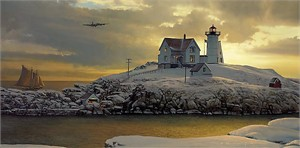 "William S. Phillips Handsigned & Numbered Limited Edition Print:""Cape Neddick Dawn """