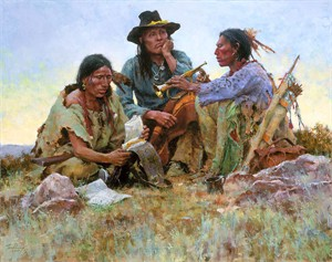 "Howard Terpning Handsigned and Numbered Limited Edition MasterWork™ Canvas Giclee:""Found on the Field of Battle"""