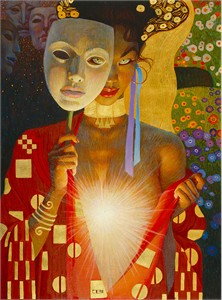 """Thomas Balckshear Hand signed and Numbered Limited Edition Canvas Giclee:""""Intimacy"""""""
