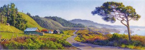 """June Carey Handsigned and Numbered  Fine Art Masterwork™ Limited Edition Giclée Canvas:"""" Pacific Coast Highway """""""