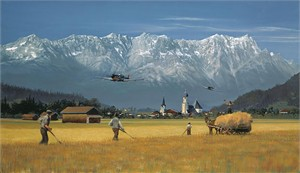 "William Phillips Handsigned & Numbered Limited Edition Anniversary Giclée Canvas:""Low Pass for the Home Folks"""