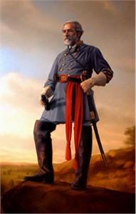 "Dan Dos Santos Handsigned & Numbered Limited Edition Canvas:""General Robert E. Lee"""