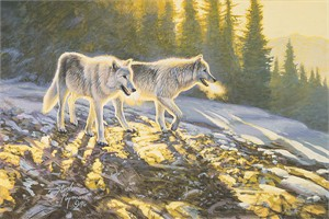 "Stephen Lyman Hand Numbered Limited Edition Giclee on Canvas:""Companions"""