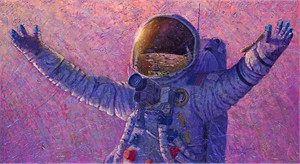 """Alan Bean Handsigned & Numbered Limited Edition Print:""""Hello Universe"""""""