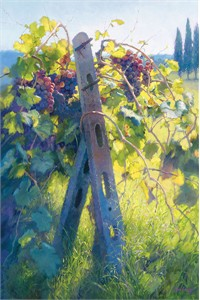 "June Carey Handsigned and Numbered Limited Edition Giclee on Canvas: ""Imported Vines"""