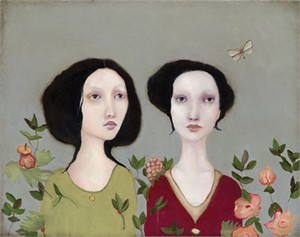 "Cassandra Christensen-Barney Limited Edition Giclee on Canvas:""Adara and Her Sister"""