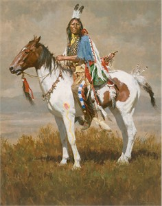 "Howard Terpning Limited Edition Artist Signed and Numbered Canvas Giclee:""Spirit of the Plains"""