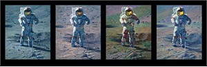 """Astronaut Artist Alan Bean Hand Signed Limited Edition Canvas Giclee:""""Apollo Moonscape, An Explorer Artist´s Vision"""""""