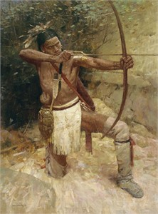"Z. S. Liang Hand Signed and Numbered Limited Edition Giclee on Canvas: ""Woodland Warrior"""