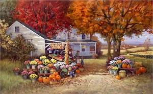 "Paul Landry Limited Edition Print: ""Aunt Martha Autumn Heirloom"""