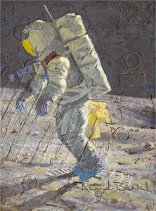 "Alan Bean Handsigned and Numbered Limited Edition Giclee on Canvas : ""An American Success Story"""