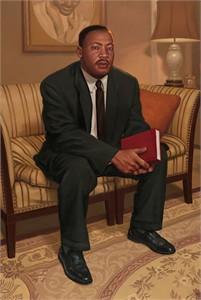 "Daniel Dos Santos Handsigned & Numbered Limited Edition Giclee Canvas:""Dr. Martin Luther King Jr."""