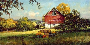 "Paul Landry Limited Edition Print: ""Apple Valley Orchard"""