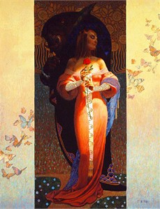 "Thomas Blackshear Hand Signed & Numbered Limited Edition Canvas Giclee:""Beauty and The Beast"""